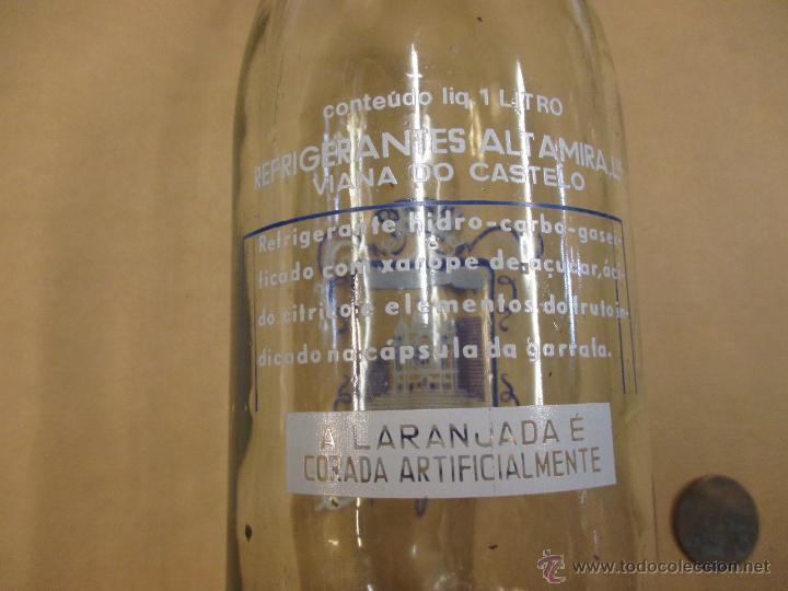 Botellas antiguas: BOTELLA NARANJADA 1L: SANTA LUZIA - VIANA DO CASTELO PORTUGAL, LIMPIA, INC TAPON - Foto 2 - 53106847