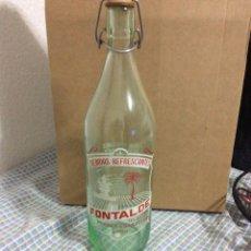 Botellas antiguas: BOTELLA DE GASEOSA FONTALDE PUEBLA DE SAN JULIÁN LUGO. Lote 53358423