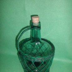 Botellas antiguas: BONITA GARRAFA DAMAJUANA BOTELLA VIRESA CRISTAL FORRADA ALAMBRE ANTIGUA 4 LITROS VINTAGE DECORACION. Lote 53857896