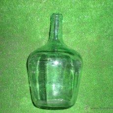Botellas antiguas: BOTELLA DE VIDRIO VERDE ANTIGUA. Lote 54338277