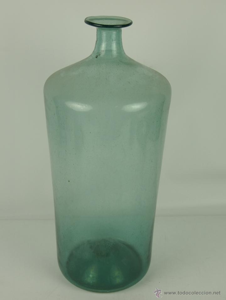 BOTELLA EN VIDRIO SOPLADO, CATALUNYA, FINAL SIGLO XVIII PRINCIPIO XIX (Coleccionismo - Botellas y Bebidas - Botellas Antiguas)