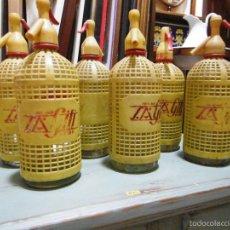 Botellas antiguas: OPORTUNIDAD COLECCION CINCO BOTELLAS SIFON GILI REUS. Lote 225782900