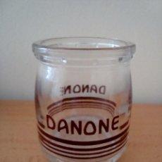 Botellas antiguas: ANTIGUO ENVASE DE DANONE SERIGRAFIADO. Lote 56321310