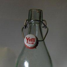 Botellas antiguas: BOTELLA DE GASEOSA YUSTE DE BELMONTE CUENCA. Lote 118492196