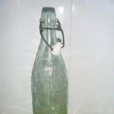 Botellas antiguas: ANTIQUISIMA BOTELLA DE VIDRIO LABRADO MARCADA EN LA BASE OLCINA Y TORROJA. Lote 57264120