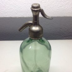 Botellas antiguas: SIFÓN ANTIGUO. CABEZAL DE PLOMO. Lote 57536118
