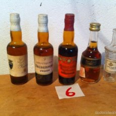 Botellas antiguas: BONITO LOTE DE 5 MINI BOTELLAS DE DIFERENTES LICORES PARA COLECCION (6). Lote 57678437