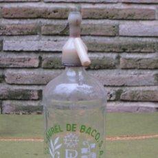 Botellas antiguas: SIFON ANTIGUO DE LA MARCA EL LAUREL DE BACO - MADRID.. Lote 57767308