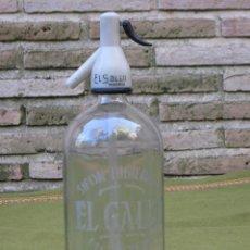 Botellas antiguas: SIFON ANTIGUO DE LA MARCA ; EL GALLO. SERIGRAFIADO.. Lote 57934367