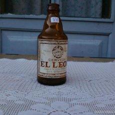 Botellas antiguas: BOTELLA CERVEZA EL LEON. 33CL.MEDALLAS HASTA 68. Lote 57934808