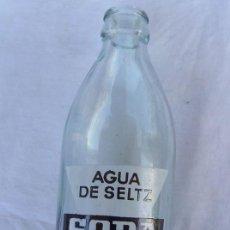 Botellas antiguas: BOTELLA VACIA PUBLICIDAD AGUA DE SELTZ SODA . Lote 58106770