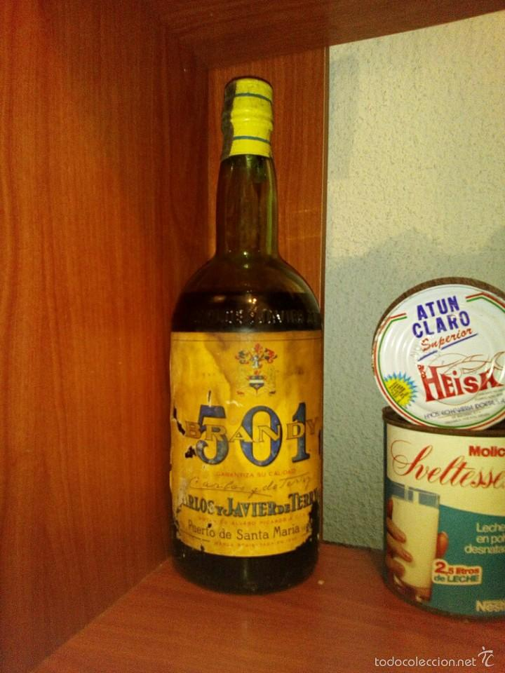 BRANDY 501 (Coleccionismo - Botellas y Bebidas - Botellas Antiguas)