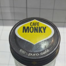 Botellas antiguas: TARRO DE CAFÉ CON TAPA MONKY TAPA ANTIGUA METALICA. Lote 58650331
