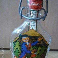Botellas antiguas: ANTIGUA BOTELLA DE LICOR ALEMANA VACIA. MEDIDAS 19X6,5X3. CAPACIDAD 0,20L. Lote 59790068