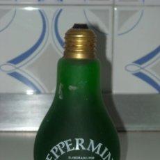 Botellas antiguas: BOTELLA BOMBILLA PEPPERMINT. Lote 60073811