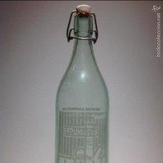 Botellas antiguas: BOTELLA GASEOSA 1 LITRO SERIGRAFIADA ESPUMOSOS. Lote 61077615
