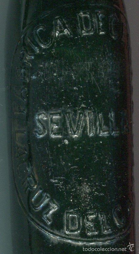 Botellas antiguas: BOTELLA DE CERVEZA PRIMERA EPOCA (1904) LA CRUZ DEL CAMPO (SEVILLA) MARCA DE FABRICANTE ROMBO - Foto 3 - 99512403