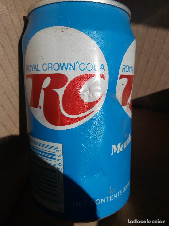 Botellas antiguas: ANTIGUA LATA ROYAL CROWN COLA RC AÑOS 90 REPUBLICA CHECA - Foto 2 - 62288924