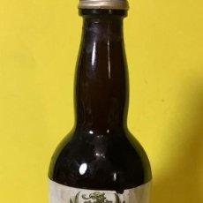 Botellas antiguas: BOTELLA MINI FINO MONTULIA MORILES MONTILLA VACIA CON TAPON 15CMS. Lote 67189417