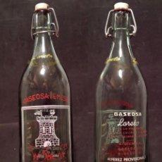 Botellas antiguas: GASEOSA LORETO. TALAVERA - BOTELLA SERIGRAFIADA. . Lote 69740889