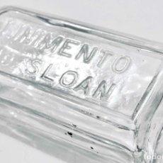 Botellas antiguas: ANTIGUA BOTELLA DE LINIMENTO DE SLOAN - BOTE DE CRISTAL CON LETRAS EN RELIEVE - TARRO VIDRIO. Lote 70156573