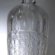 Botellas antiguas: SIFÓN EL PROGRESO INDUSTRIAL DE SEVILLA CABEZA METÁLICA. Lote 71832727