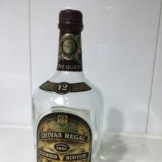 Botellas antiguas: BOTELLA WHISKY CHIVAS REGAL 12 AÑOS, VACIA, ONE QUART. Lote 102547811