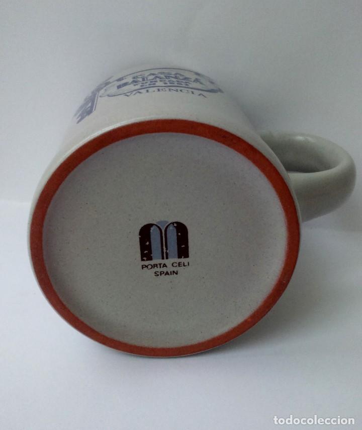 Botellas antiguas: Antigua jarra cerámica de la desaparecida Casa Balanzá,Valencia. Pl. Ayuntamiento. Logotipo 60s. - Foto 2 - 73632091