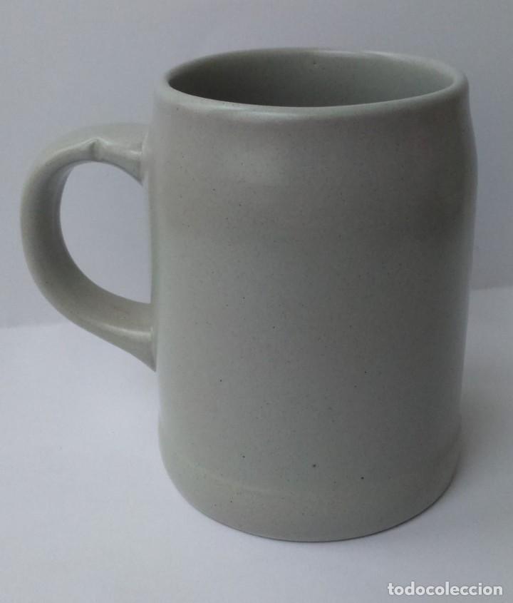 Botellas antiguas: Antigua jarra cerámica de la desaparecida Casa Balanzá,Valencia. Pl. Ayuntamiento. Logotipo 60s. - Foto 3 - 73632091