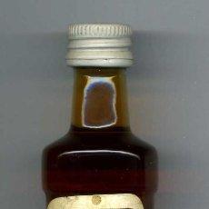 Botellas antiguas: ANTIGUO BOTELLIN DE BRANDY DE ALBARICOQUE - BAUER - DE 5 CL - MIDE 113 MILIMETROS - Nº19. Lote 74148687