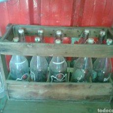 Botellas antiguas: CAJA DE MADERA DE BOTELLAS DE GASEOSA LA CASERA. Lote 76533039