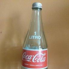 Botellas antiguas: COCA COLA 1 LITRO SERIGRAFIADA. Lote 78424929