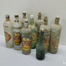 Botellas antiguas: VARIAS BOTELLAS LICORES. Lote 80265445