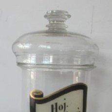 Botellas antiguas: ANTIGUO FRASCO DE FARMACIA - HOJA COCA PERU. Lote 80523605