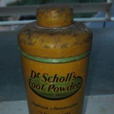 Botellas antiguas: ANTIGUO BOTE METALICO DE DESODORANTE DE PIES DOCTOR SCHOLL´S. Lote 35096412