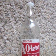 Botellas antiguas: BOTELLA LITRO: GASEOSA OTERO, FEIJOO - FTE Nº 4210, SUPERFICIE PIEL NARANJA - VIGO + INFO. Lote 82474248
