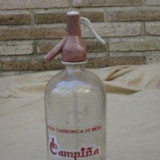 Botellas antiguas: SIFON MARCA CAMPIÑA - ARANJUEZ ( MADRID ). Lote 83173792