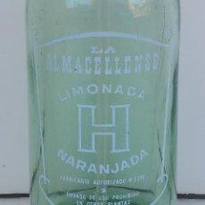 Botellas antiguas: SIFÓN LA ALMACELLENSE - ALMACELLES. GRANDE Y PESADO 1,700 GR. APROX. TAPÓN ORIGINAL DE PLOMO. Lote 50634590
