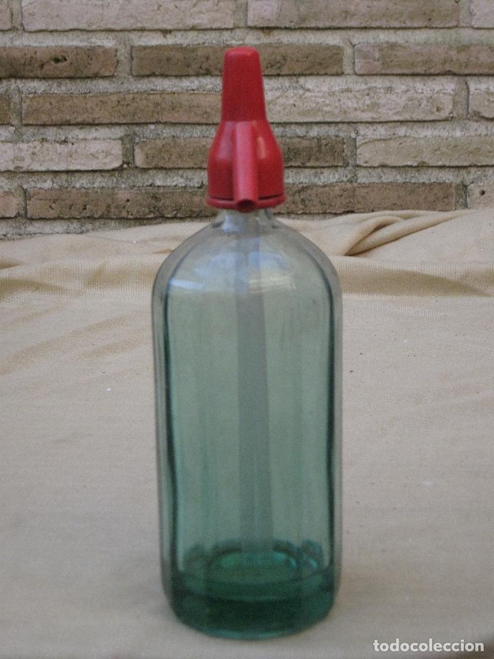 Botellas antiguas: SIFON - BOTELLA ANTIGUA DE CRISTAL CON DIBUJO. - Foto 3 - 86019284