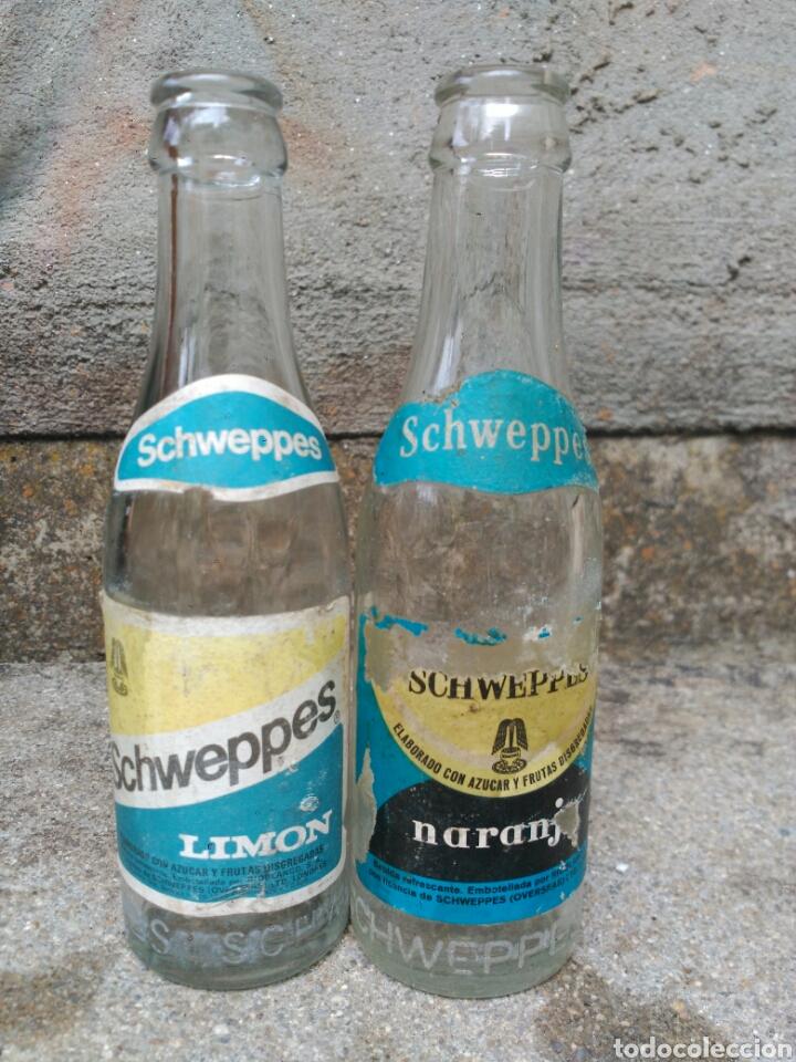 LOTE DE 2 BOTELLAS SCHWEPPES (Coleccionismo - Botellas y Bebidas - Botellas Antiguas)