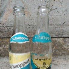 Botellas antiguas: LOTE DE 2 BOTELLAS SCHWEPPES. Lote 86528708