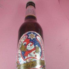 Botellas antiguas: BOTELLA-CERVEZA-ESTRELLA GALICIA-NAVIDAD DEL 2000-NOS-COLECCIONISTAS-NO SALIÓ A LA VENTA-VER FOTOS. Lote 91972887
