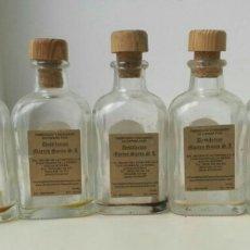 Botellas antiguas: LOTE 5 BOTELLITAS CRISTAL. Lote 87563328