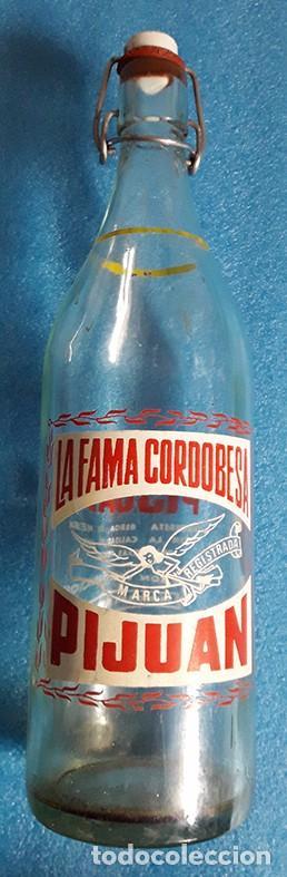 CORDOBA, BOTELLA DE GASEOSA PIJUAN, SERIGRAFIADA A DOS COLORES (Coleccionismo - Botellas y Bebidas - Botellas Antiguas)