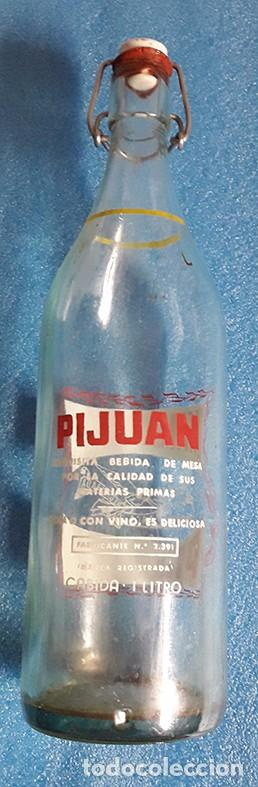 Botellas antiguas: CORDOBA, BOTELLA DE GASEOSA PIJUAN, SERIGRAFIADA A DOS COLORES - Foto 2 - 87663840