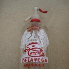 Botellas antiguas: SIFON - BEBIDAS GASEOSAS LA CAMPIÑA DE LA VEGA - ARANJUEZ - MADRID.. Lote 87923912
