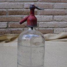 Botellas antiguas: SIFON ANTIGUO DE GASEOSAS Y SIFONES MIGUEL ZAMORANO - NOBLEJAS ( TOLEDO ) GRABADO AL ACIDO.. Lote 87961376
