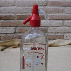 Botellas antiguas: SIFON DE LA MARCA ESPUMOSOS DULCINEA, DE ARANJUEZ - MADRID - QUIJOTE.. Lote 87970232