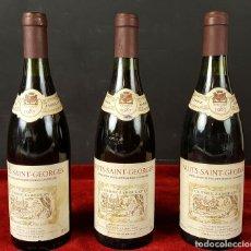 Botellas antiguas: 3 BOTELLAS DE VINO. NUITS SAINT GEORGE. BORGOÑA. 1987. ULYSSE JABOULET. . Lote 88762968