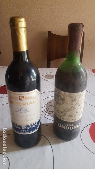 DOS BOTELLAS DE VINO ANTIGUAS (Coleccionismo - Botellas y Bebidas - Botellas Antiguas)